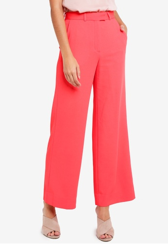 TOPSHOP pink Slouch Suit Trousers D102BAAF2BEE9FGS_1