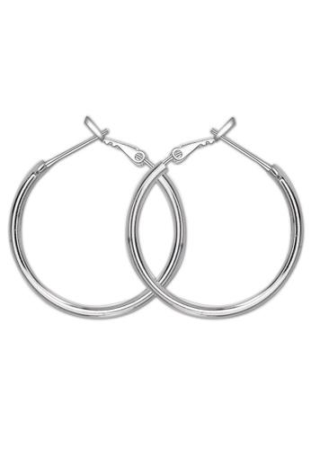 SC Tom Silver silver Polish Loop Earring SC872AC75KIIPH_1