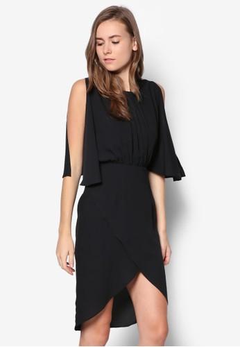 開叉袖裹飾洋裝, 服esprit童裝門市飾, 短洋裝