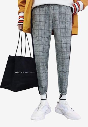 hk-ehunter multi Men Plaid Pattern Pants E18BDAA07C4E43GS_1