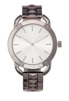 Round Face Square Chain Strap Watch