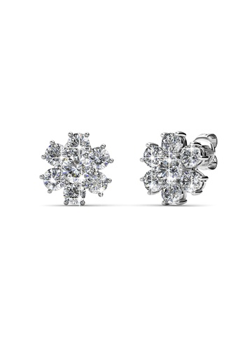 Her Jewellery silver Her Jewellery Elegant Flower Earrings with 18K Gold Plated 63E29AC2762D86GS_1