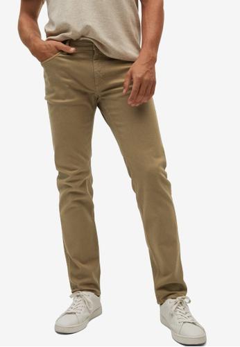 MANGO Man 褐色 Slim-Fit Coloured Jeans 33A03AA0297548GS_1