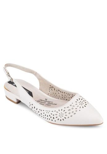 繞踝沖孔尖頭平底esprit 旺角鞋, 女鞋, 鞋