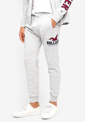 Hollister 灰色 Skinny Logo Sweatpants C26D6AAA141DF1GS_1