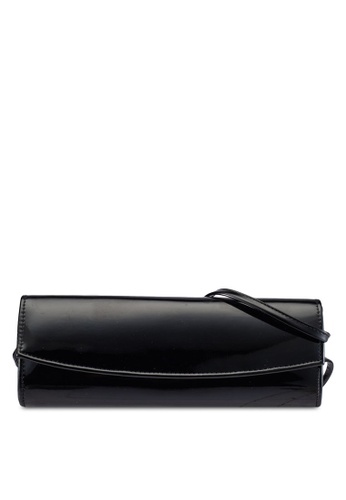 Dorothy Perkins black Black Curved Structured Clutch DO816AC0S0A2MY_1