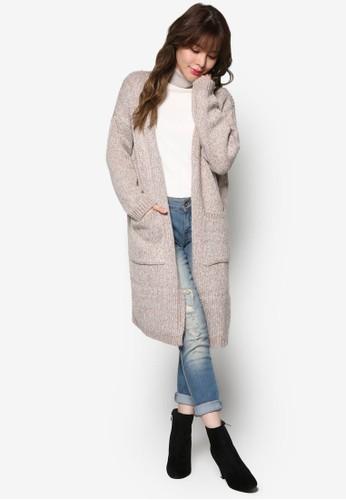 簡約針織長esprit高雄門市版外套, 服飾, 外套