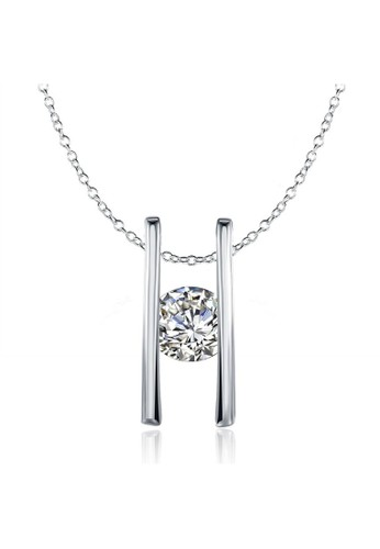 Tiaria white Tiaria Lady Geometry Necklace White Gold Plated KRGPN527--K09 0D222ACED3B9AFGS_1