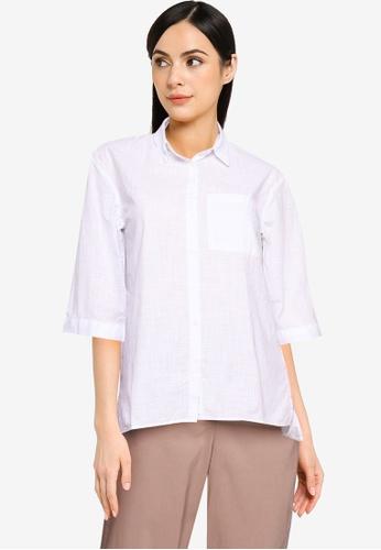 LC WAIKIKI white Plain Voile Shirt CC2DFAA2EF393DGS_1