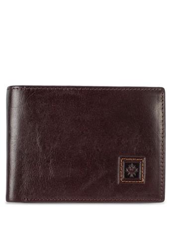 簡約皮革對折短夾, 飾品配件, esprit macau皮革