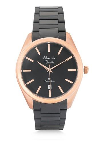 Alexandre Christie black Alexandre Christie Jam Tangan Pria - Black Rosegold - Stainless Steel - 8638 MDBBRBA 47806ACD56E8A9GS_1