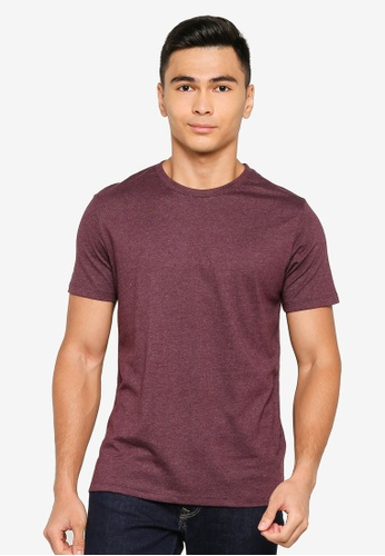 Electro Denim Lab red V-neck Tee 9AEA8AA012866AGS_1