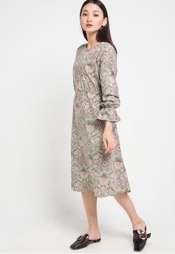 SIMPLICITY multi Printed Long Sleeves Dress 7D78EAAFF15250GS_1