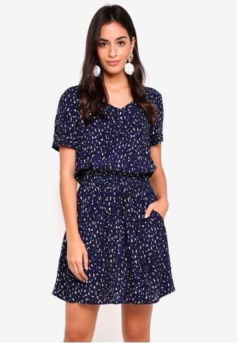Pieces blue Melanie Short Sleeve Dress 001E5AA4705EA9GS_1