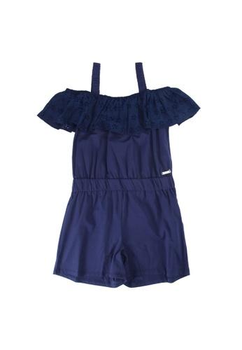 Guess blue Stretch Jersey Romper 62F41KACE1D00FGS_1