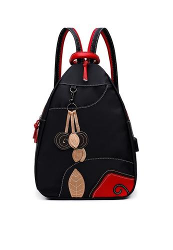Twenty Eight Shoes black VANSA Nylon Oxford Backpacks VBW-Bp28111 2BAC5AC3E0B309GS_1