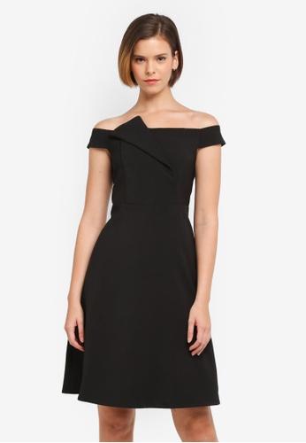 ZALORA black Structured Off Shoulder Dress BA353AAAFF1670GS_1