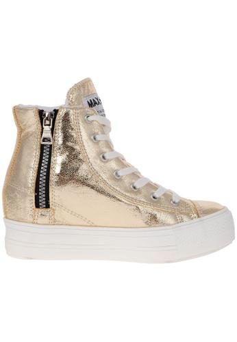 Maxstar gold Maxstar Women's C2 7 Holes Zipper Hidden Heel TC High Top Sneakers US Women Size MA164SH86PUVSG_1