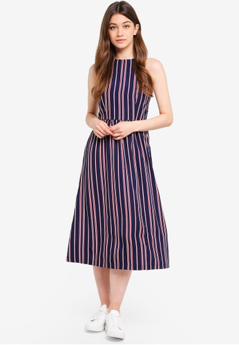Something Borrowed navy Cut-In Midi Dress 75055AAC5D6ED2GS_1