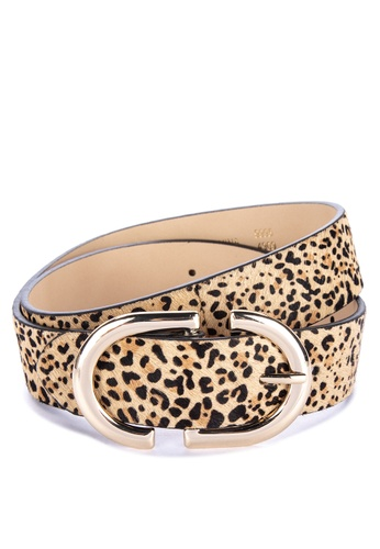 8a679df588c Shop TOPSHOP Leopard Print Logo Belt Online on ZALORA Philippines