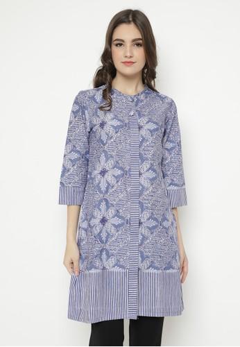 Batik Aksen Tropis grey Felicia Dress 4573BAA8A928BAGS_1