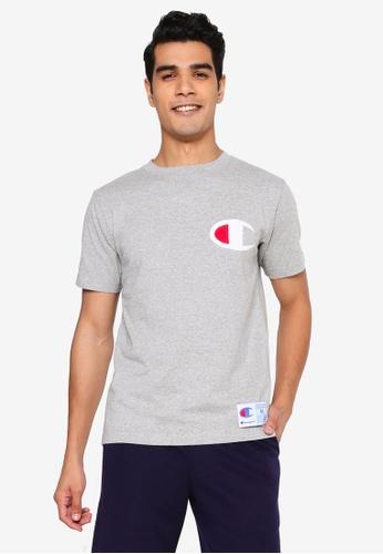 champion grey Logo Applique Short Sleeves T-shirt 67583AA17B8315GS_1
