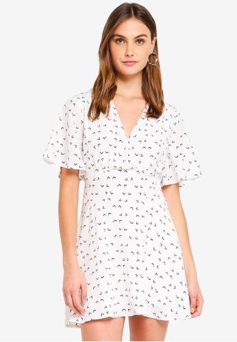 Glamorous white Skater Dress 67BE2AAB4C8E0CGS_1