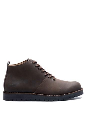 Brodo brown BRODO - Sepatu Pria Boots E+ Dark Choco BS 8DF57SH5F04576GS_1
