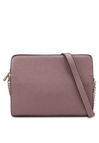 Buy Dorothy Perkins Rose Zip Top Chain Crossbody Bag Online   ZALORA ... 07203f8f01