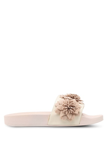 Carlton London beige Slides With Floral Detail DB4B1SH3000571GS_1