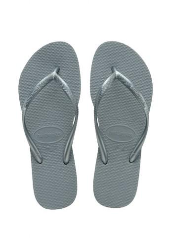 Havaianas grey Havaianas Slim 7606-Silver Blue  - Sandal Wanita 7595CSH6D31D0AGS_1