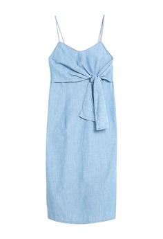 01b1b86ae32 TOPSHOP Tie Front Denim Midi Dress S$ 79.90. Sizes 6 8 10 14