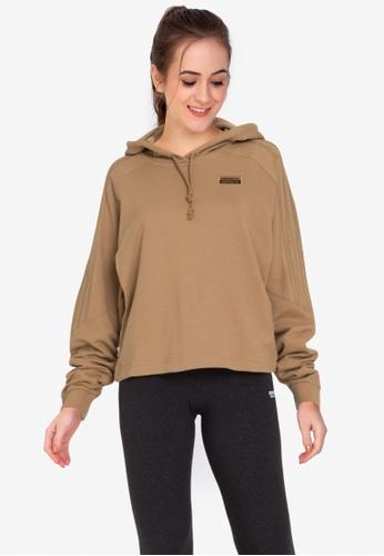 ADIDAS brown hoodie BE165AAF4C170CGS_1