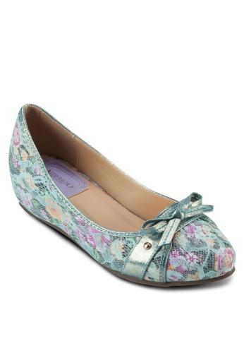 蝴esprit 羽絨外套蝶結印花內增高娃娃鞋, 女鞋, 鞋