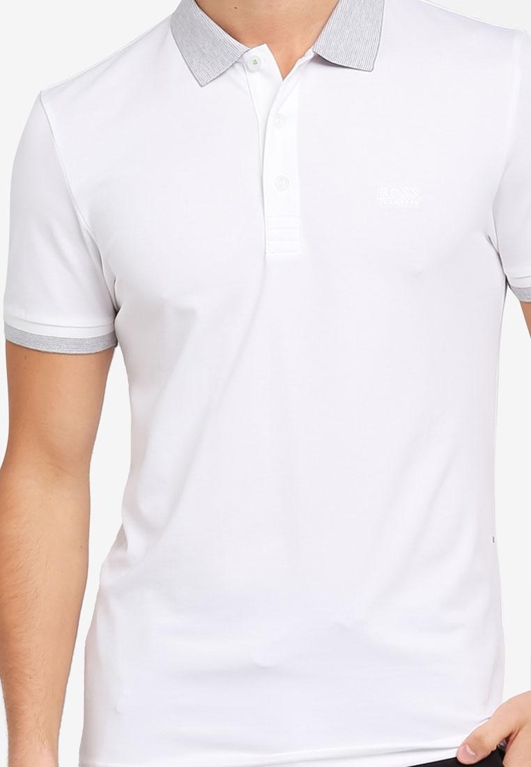 BOSS White Paule Boss Shirt Athleisure Polo cfWqn0HH6