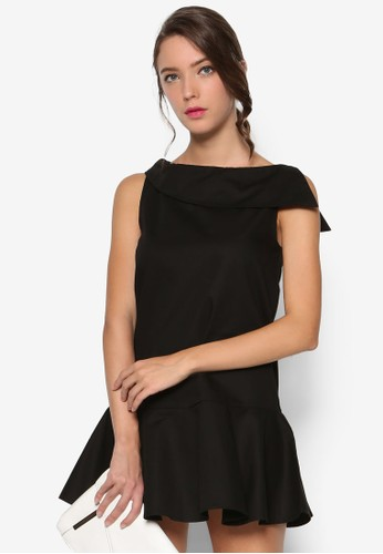 喇叭裙擺船領esprit香港分店連身裙, 服飾, 絕美洋裝