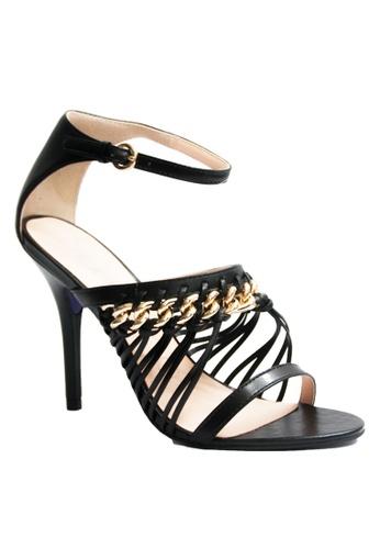 Covet black Miezko Lia Vitello Ankle Strap Heels CO331SH46EMJPH_1