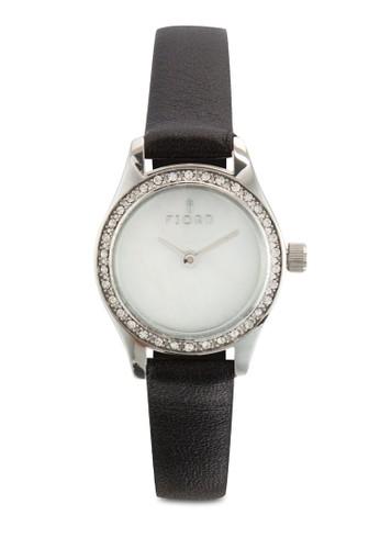 MARINA 金屬皮革水鑽圓錶, esprit暢貨中心錶類, 飾品配件