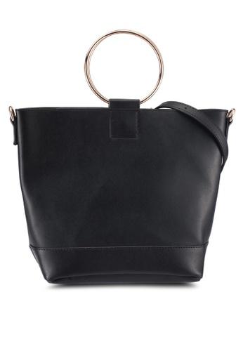 Dorothy Perkins black Black Mini Metal Handle Bag AE493ACC46B82AGS_1