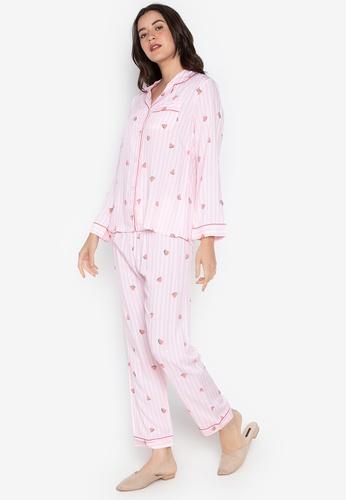 FEMINISM pink Longsleeve PJ Set E4584AAA045F5BGS_1