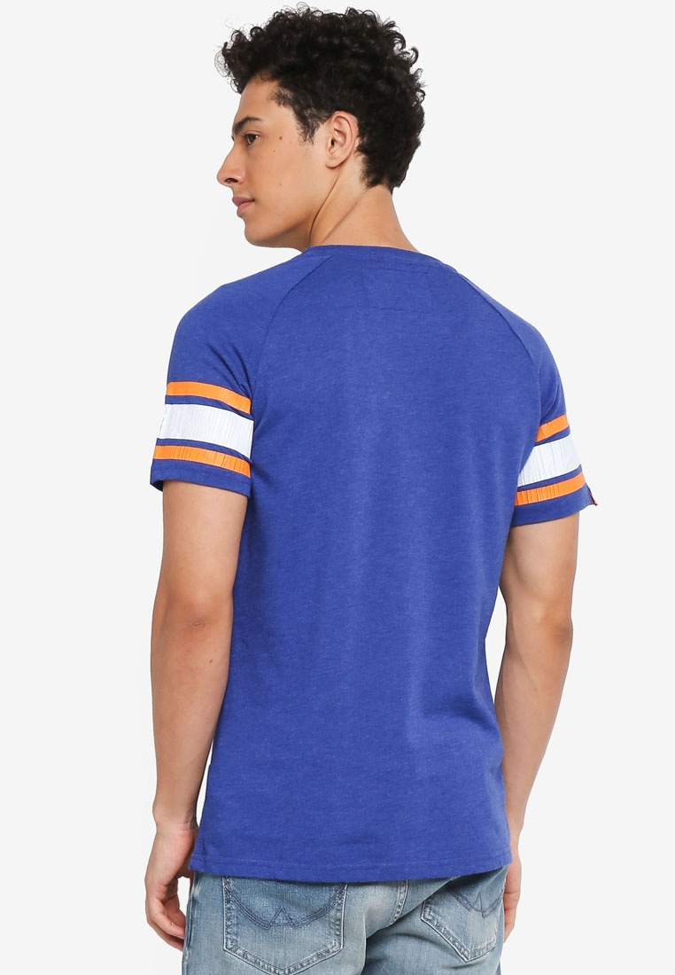 Superdry Major 054 League Tee Blue Native wt7Znq6ndU