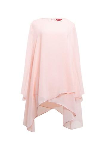 BRILLIANT GIRL pink Plain Layer Blouse 95BACAA289B2A1GS_1