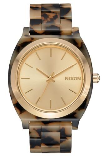 Nixon multi and beige and gold Time Teller Acetate 40mm - Cream/Tortoise (A3273346) 2FC08AC16A5560GS_1