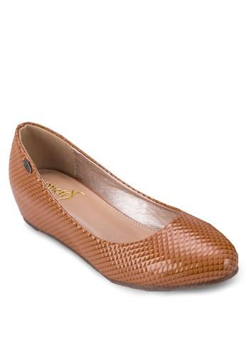 漆面壓esprit outlet 香港紋平底鞋, 女鞋, 芭蕾平底鞋
