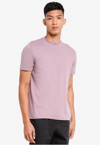 Topman 紫色 Purple Slim Fit Crew Neck Tee 4EBC7AA66F0C86GS_1