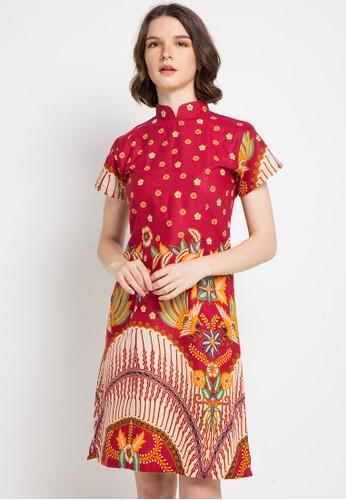 Brahmani Batik red Ming Shanghai Dress 7D2AEAA86A1866GS_1