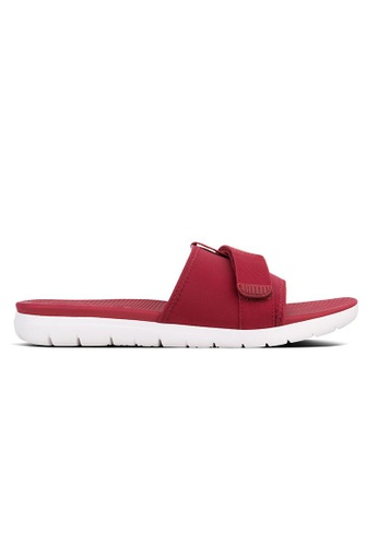 3f7bee074380 FitFlop red Fitflop Neoflex Slide Sandals (Royal Red) D40FASH8BD316FGS 1