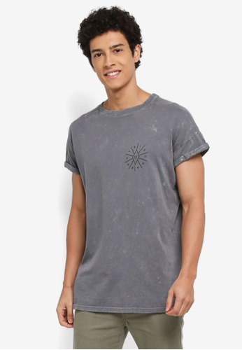 Factorie grey Shaded Amped Cap Tee 8A0C9AAA558FC7GS_1