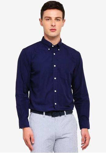 Brooks Brothers 藍色 長袖襯衫 3C0F5AAF64FB31GS_1