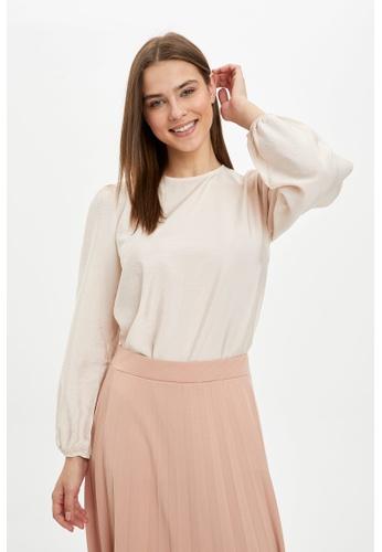 DeFacto pink Woman Long Sleeve Woven Tunic 428B8AAAD9CB26GS_1